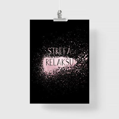 różowo-złoty plakat