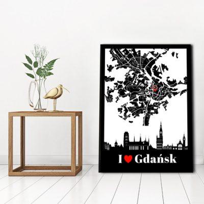 plakat z motywem gdanska