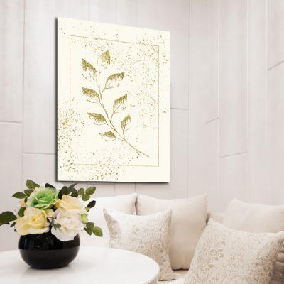 złota roślina na plakacie