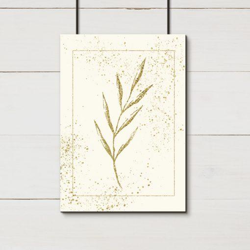 dekoracja jako złoty plakat