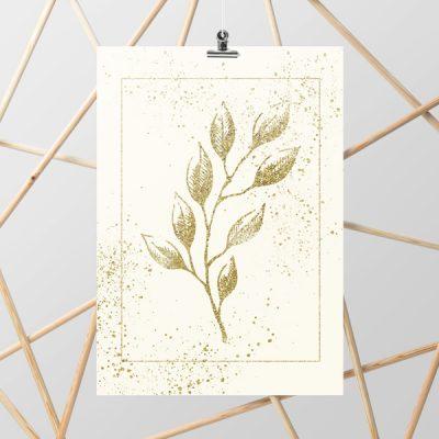 roślinna dekoracja jako plakat