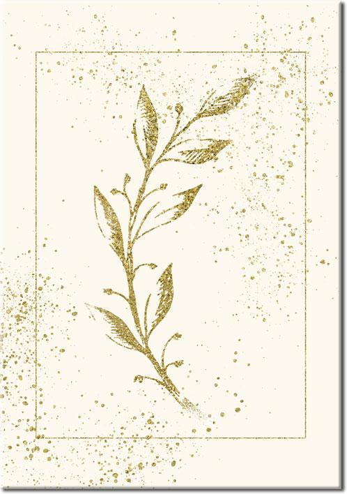 plakat do salonu z liśćmi