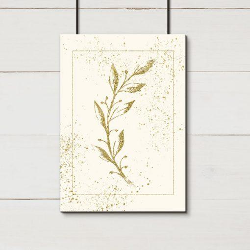 plakat na ścianę z liśćmi