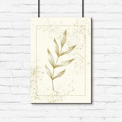 pionowy plakat z gałązką