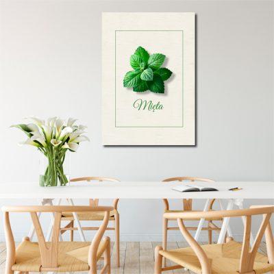 zielona mięta na plakacie