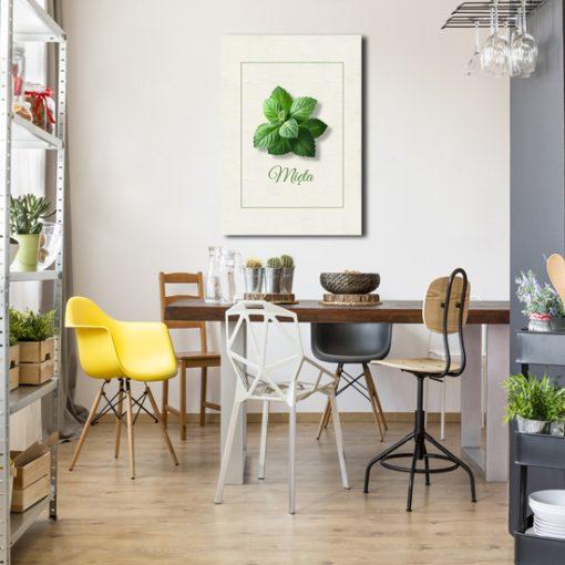 kuchenny plakat z motywem mięty