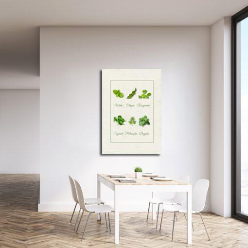 kuchnia z plakatem pionowym