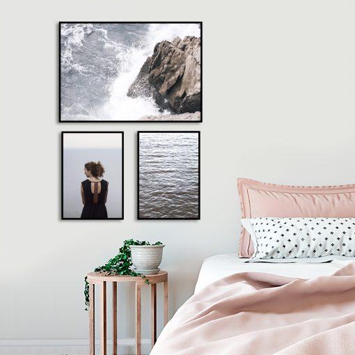 plakaty w zestawie morze do sypialni