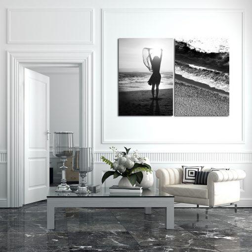 morze na biało-czarnych plakatach