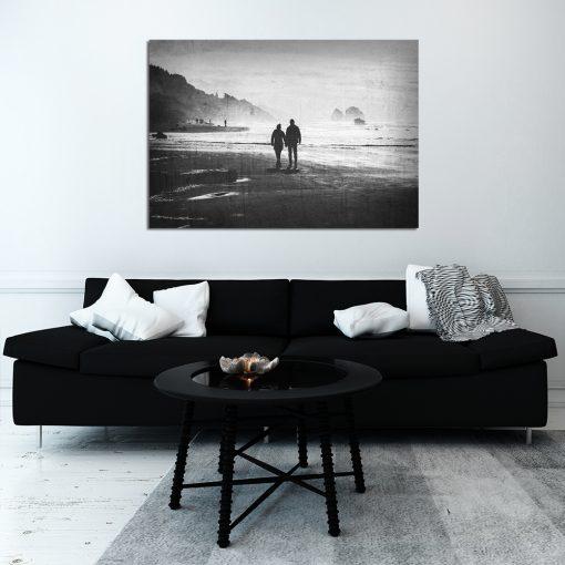 plakat z parą na plaży