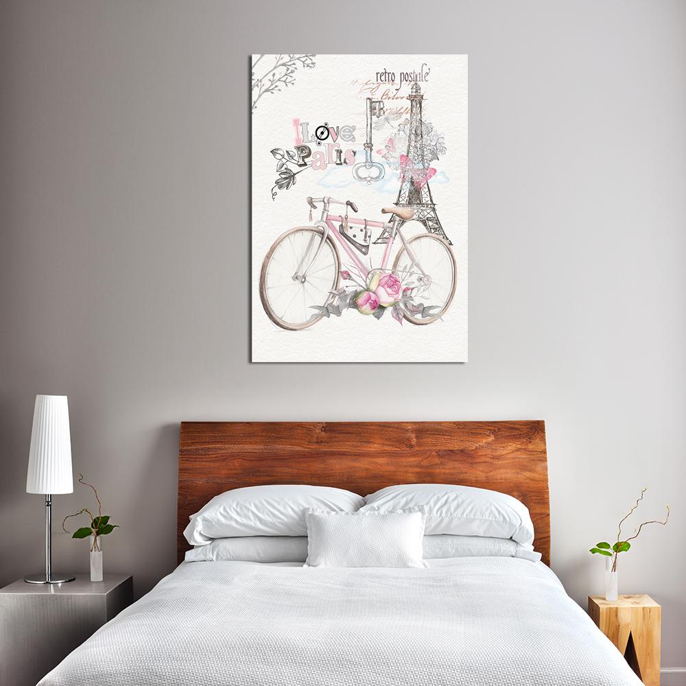 Retro Plakat Do Sypialni Z Rowerem