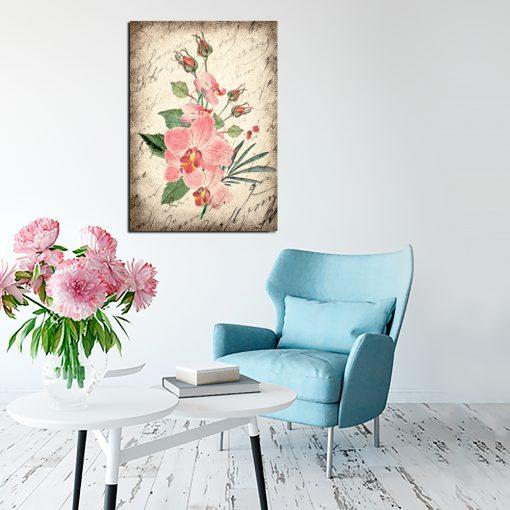 Obraz w kolorze sepii do salonu