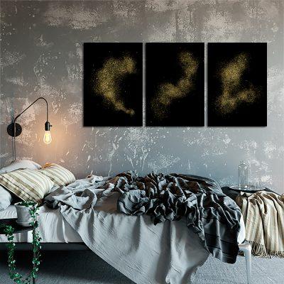 Zestaw czarnych plakatów do sypialni