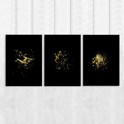 Tryptyk z motywem abstrakcji