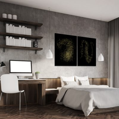 Obraz dyptyk na ścianę do sypialni