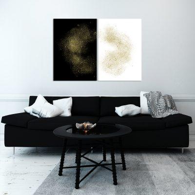 Obraz podwójny na ścianę do salonu