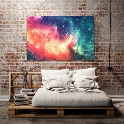 Obraz z kolorową abstrakcją do sypialni