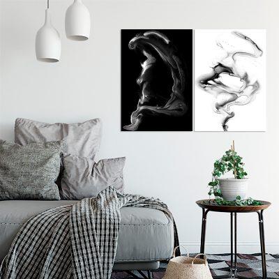 Obraz dyptyk z motywem abstrakcji