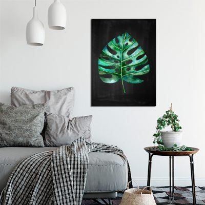 Obraz z roślinnym motywem do salonu