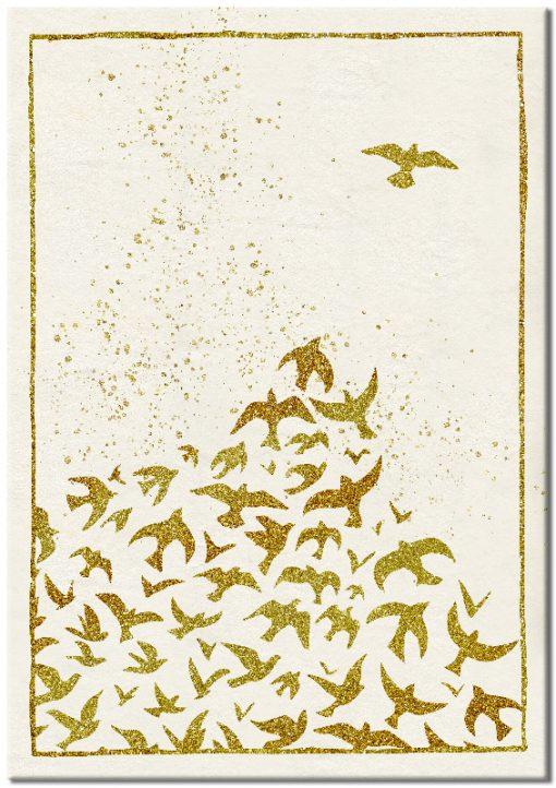 ozdoba z lecącymi ptakami