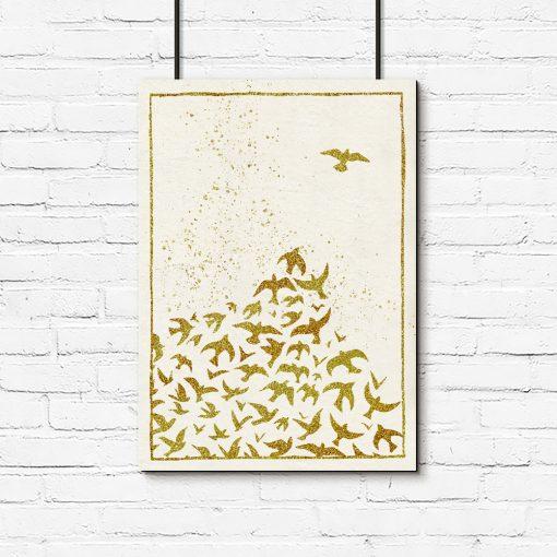 lecące ptaki jako dekoracja