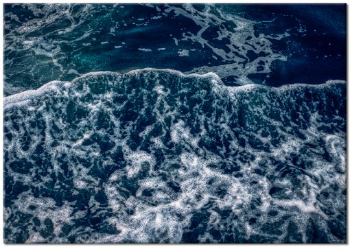 morze i fale na plakacie