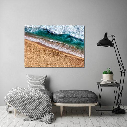 plakat z morzem i plażą