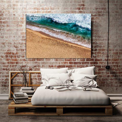 plakat z morzem do sypialni