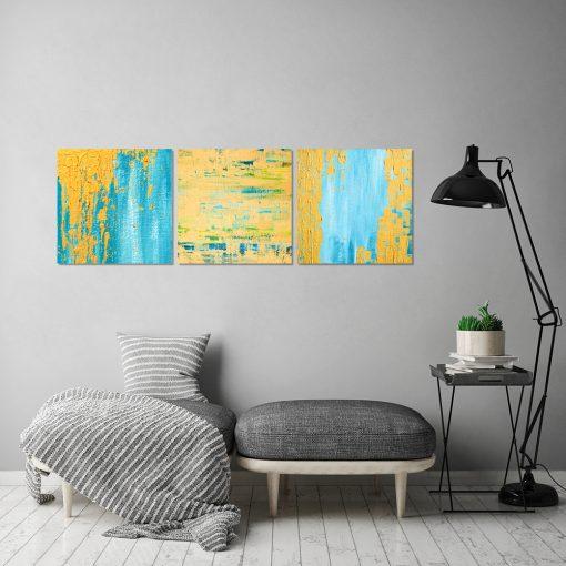 Obraz z motywem abstrakcji do salonu