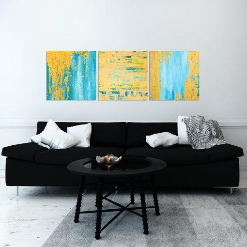 Obraz tryptyk do dekoracji salonu