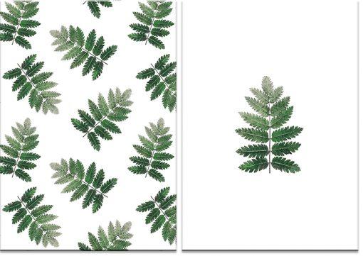 Obraz z motywem liści jarzębiny