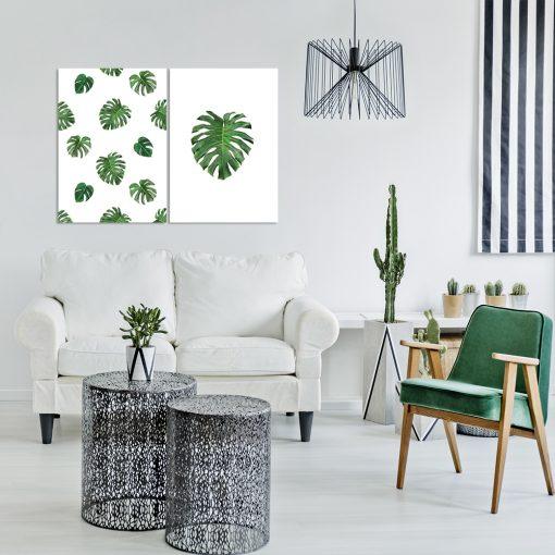 Podwójny plakat do dekoracji salonu