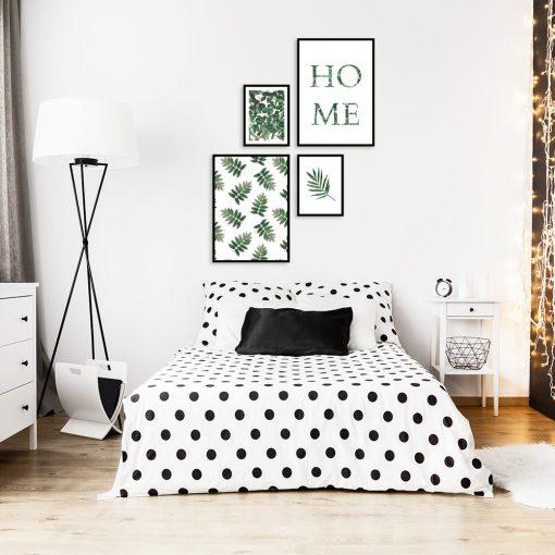 Zestaw plakatów z liśćmi do sypialni