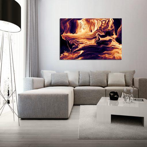 Obraz z motywem pomarańczowej lawy