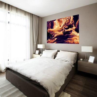 Obraz z motywem lawy do dekoracji sypialni