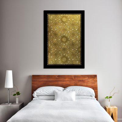 Plakat mozaikowy do dekoracji sypialni