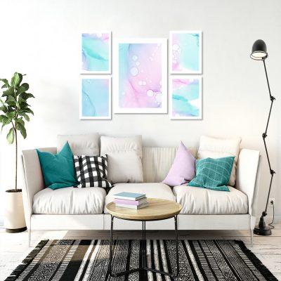 abstrakcyjne plakaty w kolorze pastelowym