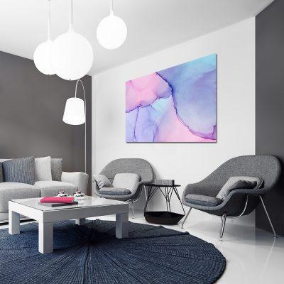 Obraz w pastelowych kolorach do salonu