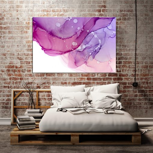 Obraz różowy do sypialni