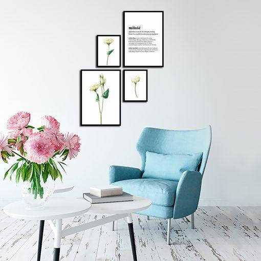 Zestaw plakatów na ścianę do salonu