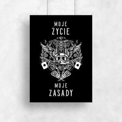 Czarno-biały plakat typograficzny