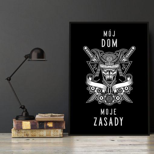 Typograficzny plakat na ścianę do salonu