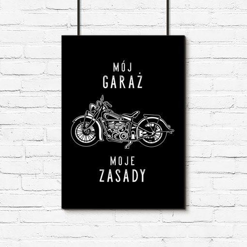 Plakat z napisem do garażu
