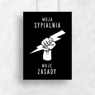 Plakat czarno-biały do sypialni
