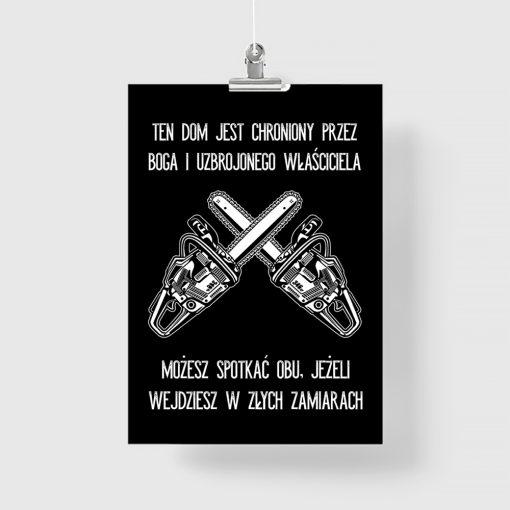 Typograficzny plakat z motywem piły