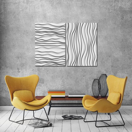 Dyptyk abstrakcyjny do salonu