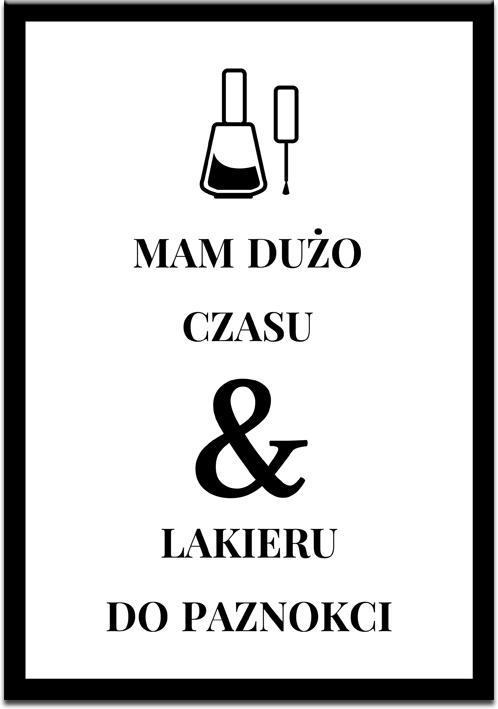Plakat z ilustracją lakieru do paznokci