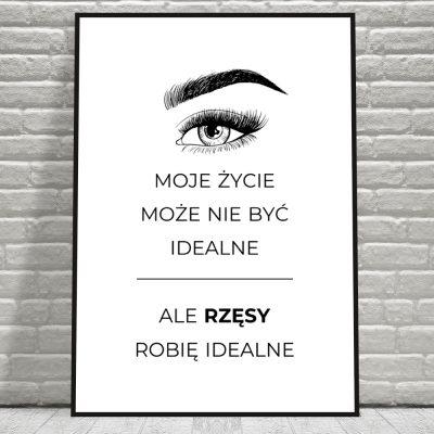 Plakat czarno-biały do salonu kosmetycznego