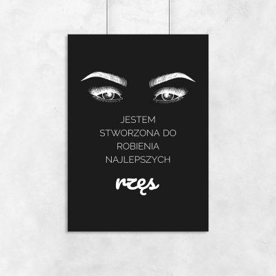 Plakat z motywem oczu