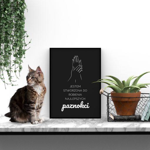 Plakat typograficzny do salonu kosmetycznego
